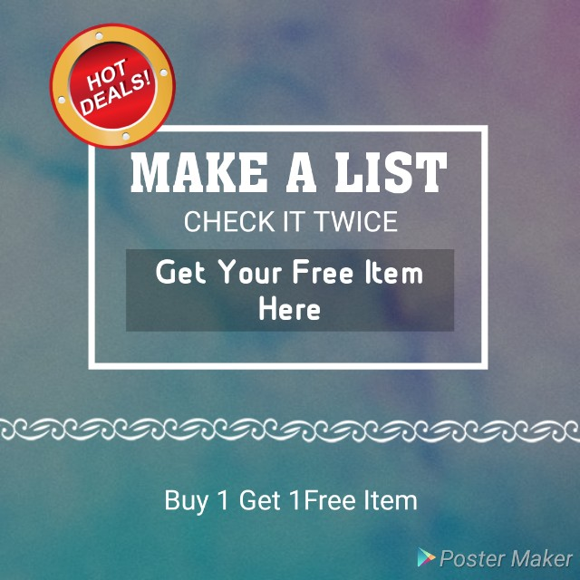 GET YOUR FREE ITEM