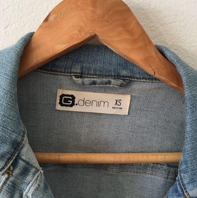Glassons denim crop jacket