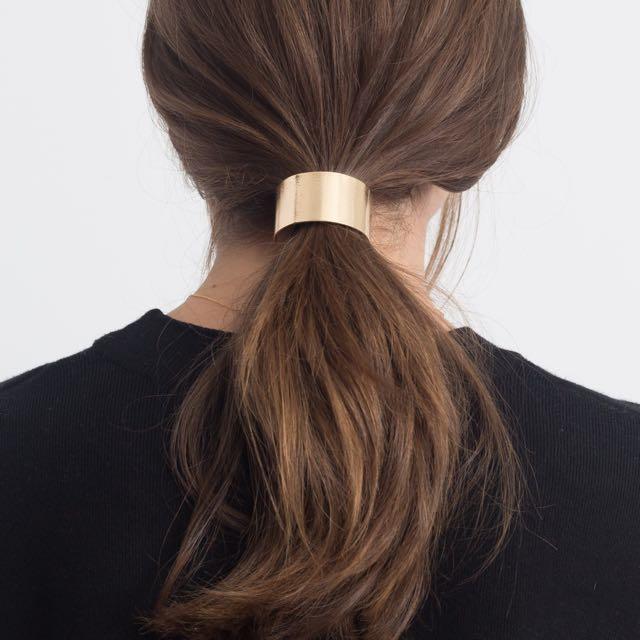 📮Gold Metal Ponytail Hair Tie