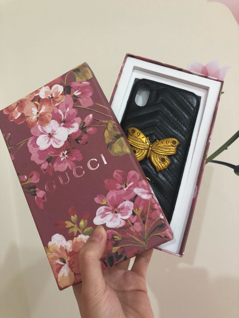 Gucci Marmont Moth Iphone X case