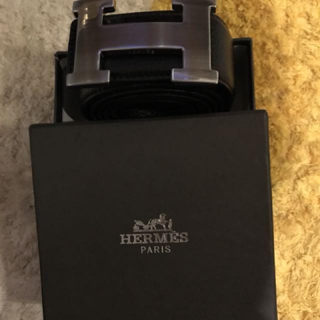 Hermès ikat pinggang black