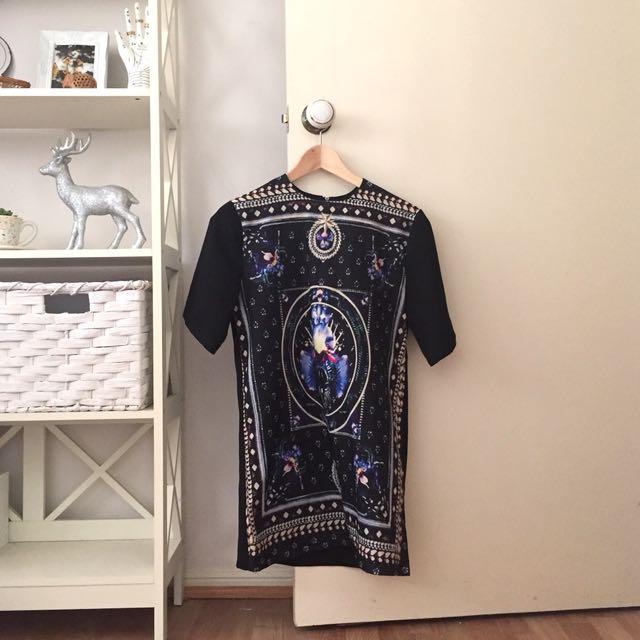 Kaleidoscope Pattern Print Tunic Top/Dress