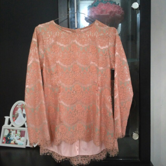Kebaya Wisuda Nikah Peach Salem Orange Women S Fashion Women S
