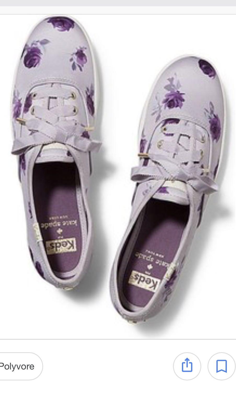 e9b569e5c980b4 KEDS X Kate Spade New York Champion Satin Lilac Rose Sneakers Size ...