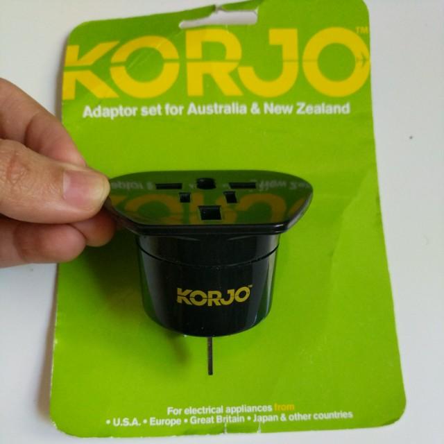 Korjo Travel Reverse Adaptor Plug for Australia New Zealand