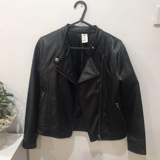 Leather Jacket - Kids Size 10 (Women's 8)