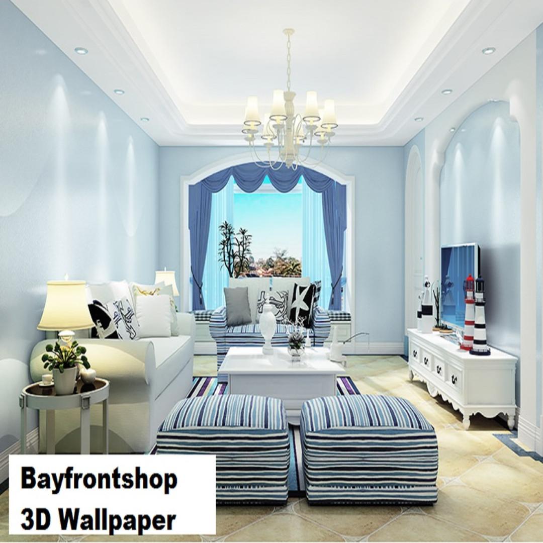 3D Gold Silk Wallpaper Living Room Bedroom Waterproof Wallpaper ...