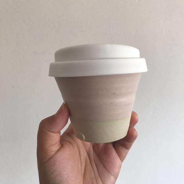 Locally made reusable cup