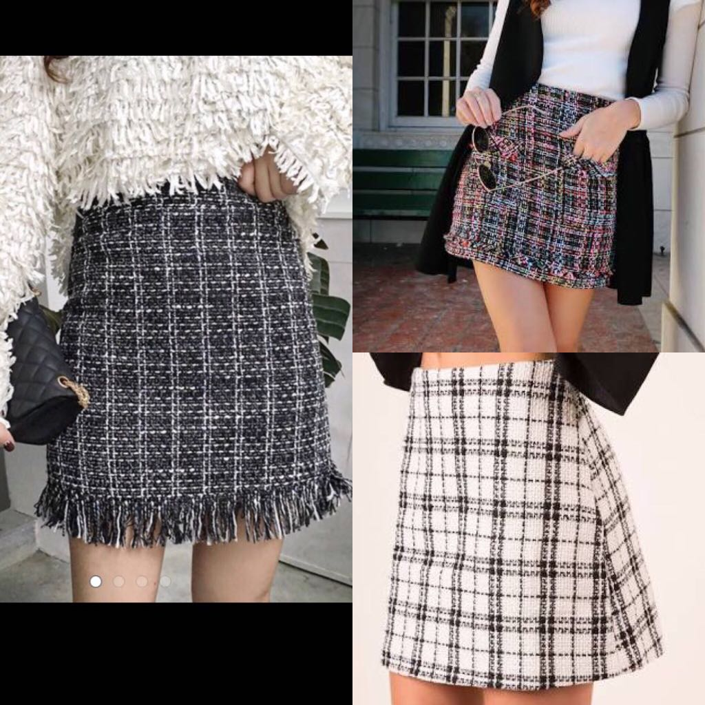 Looking for tweed skirts!