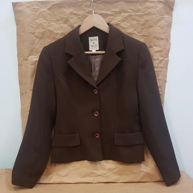 #MakinTebel Dark Brown Blazer