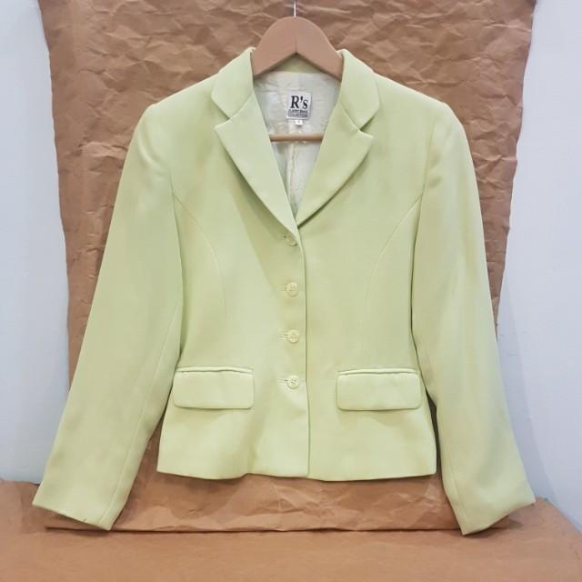 #MakinTebel Light Green Blezer