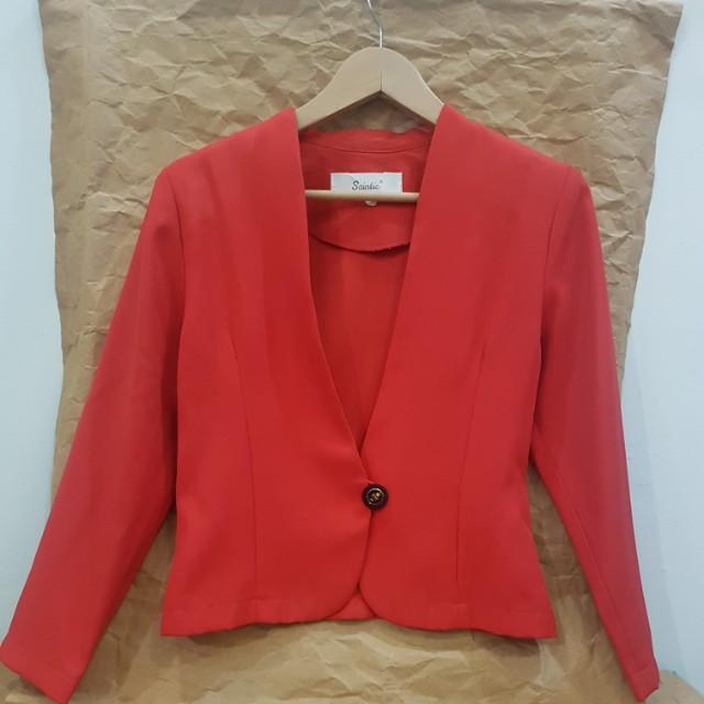 #MakinTebel Red Blazer