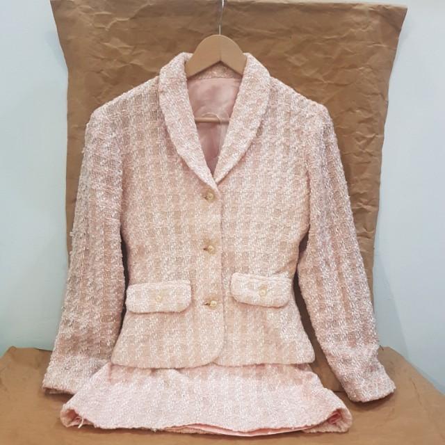 #MakinTebel set of Pastel Blazer n Skirt