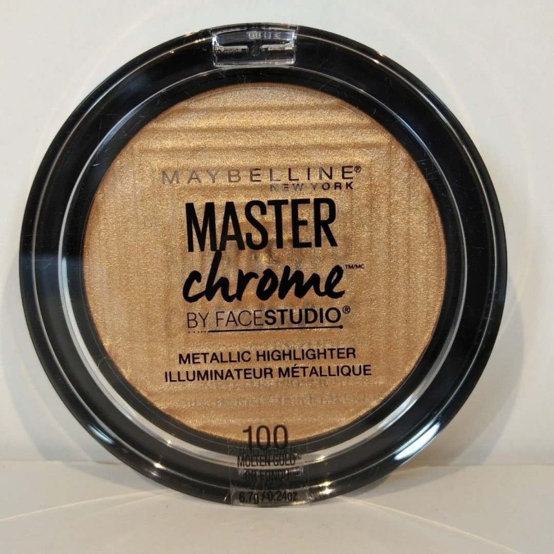 Maybelline Master Chrome by Face Studio Metallic Highlighter | 100 Molten Gold NEW + AUTH