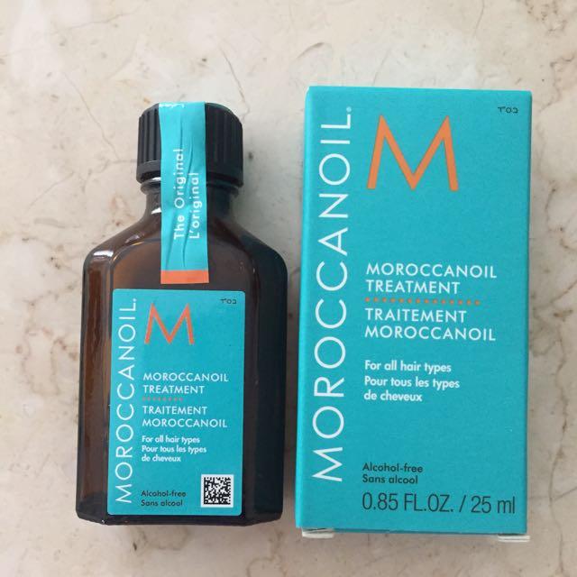 Moroccan oil (catok dan blowdry)