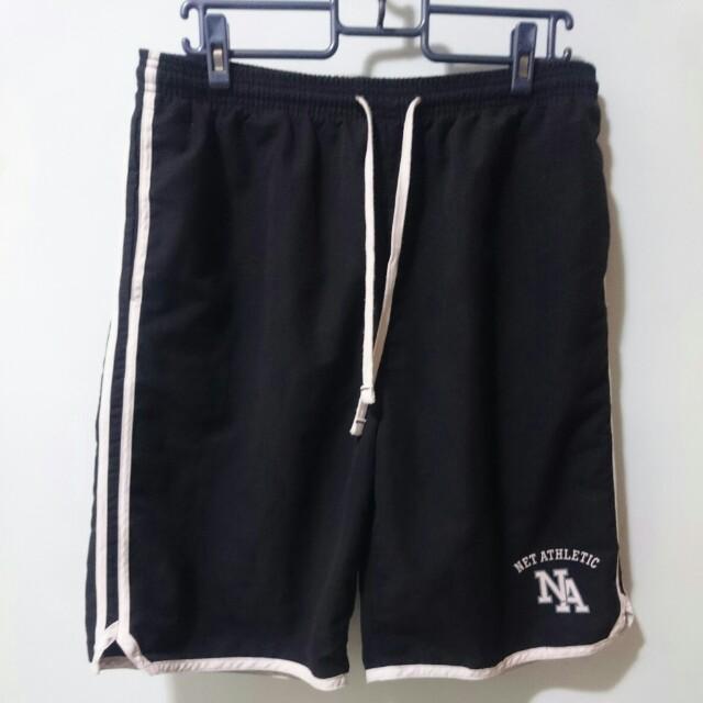 NET Sport 黑色經典運動短褲
