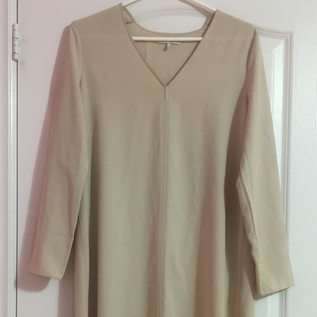 Oak + Fort Beige Dress Size Small