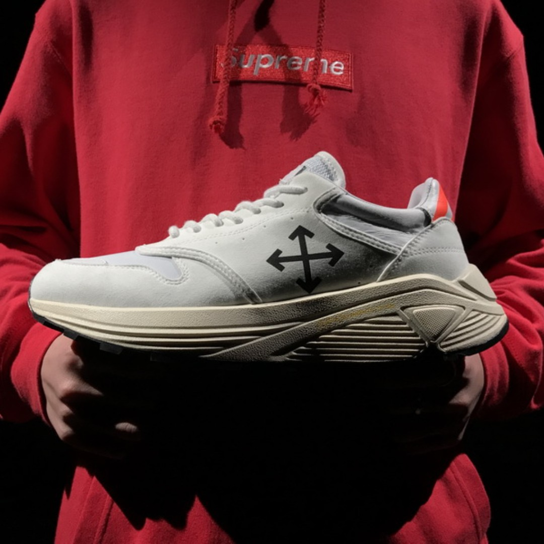 2e76b3cedcdc Off-White Arrow detail Low Sneakers Shoes White