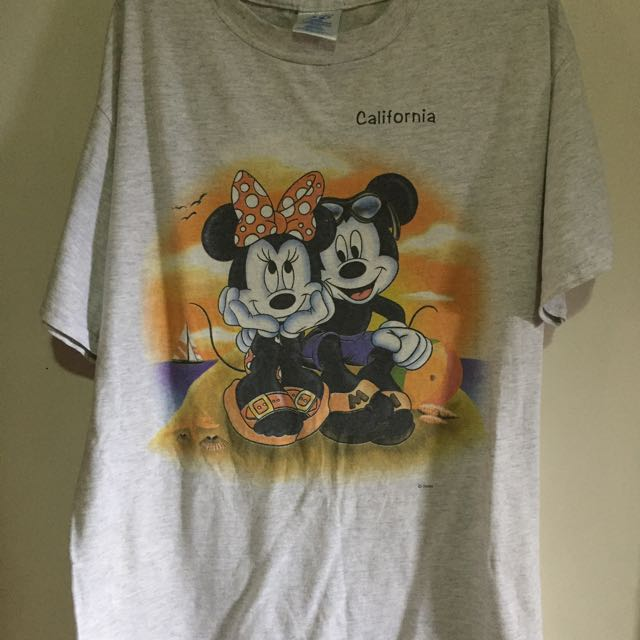 Oversized Vintage Mickey And Minnie Mouse T Shirt