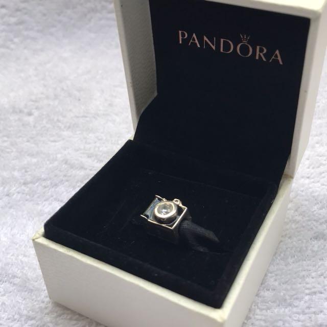 Pandora camera silver charm