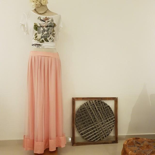 5822dcad1 Pink Maxi Tutu / Tulle Skirt, Women's Fashion, Clothes, Dresses ...