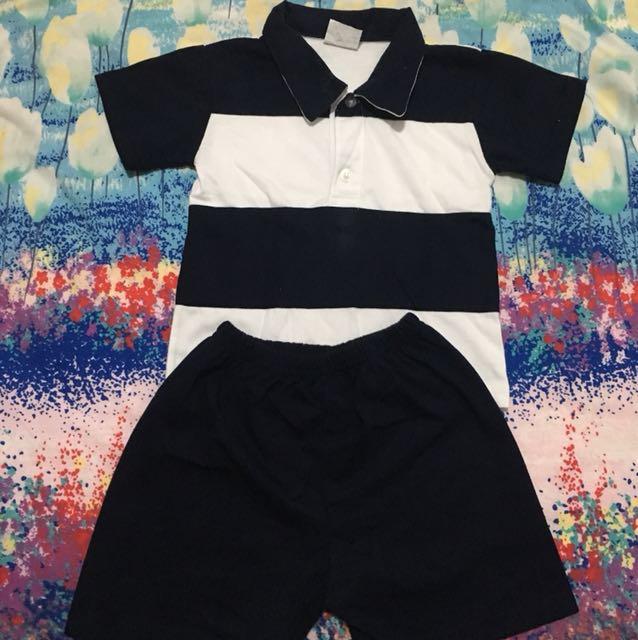 Polo shirt & short 2T