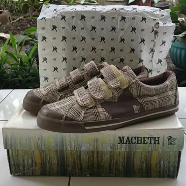 (PRE ORDER) RARE ITEM Macbeth Eliot Velcro Choco Plaid