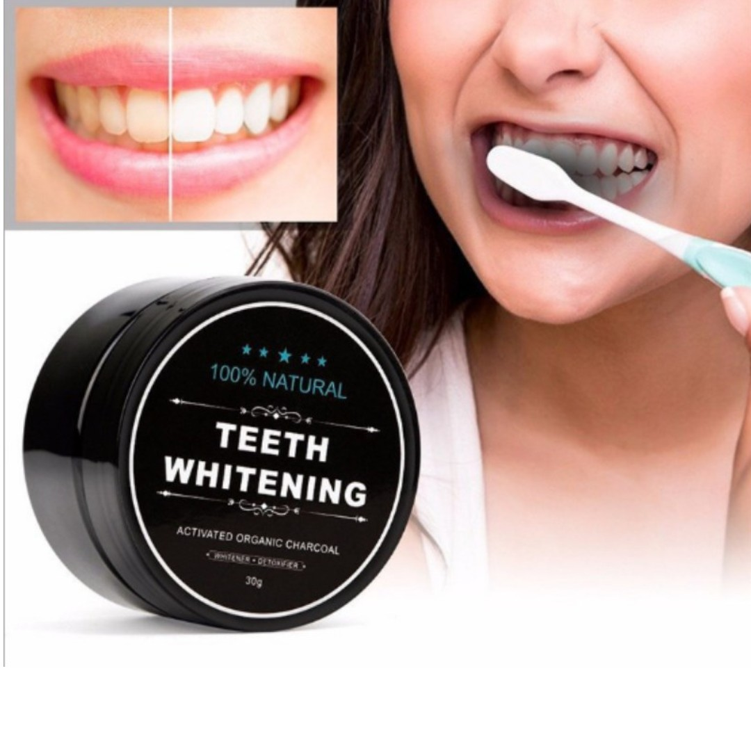 PREORDER! 30g Teeth Whitening Cleaning Activated Charcoal Powder Natural Safe Tooth Whitener Bright White Teeth Dental Clean Oral Hygiene