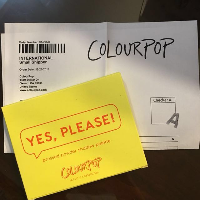 *PRICE LOWERED Colourpop Yes Please! Palette