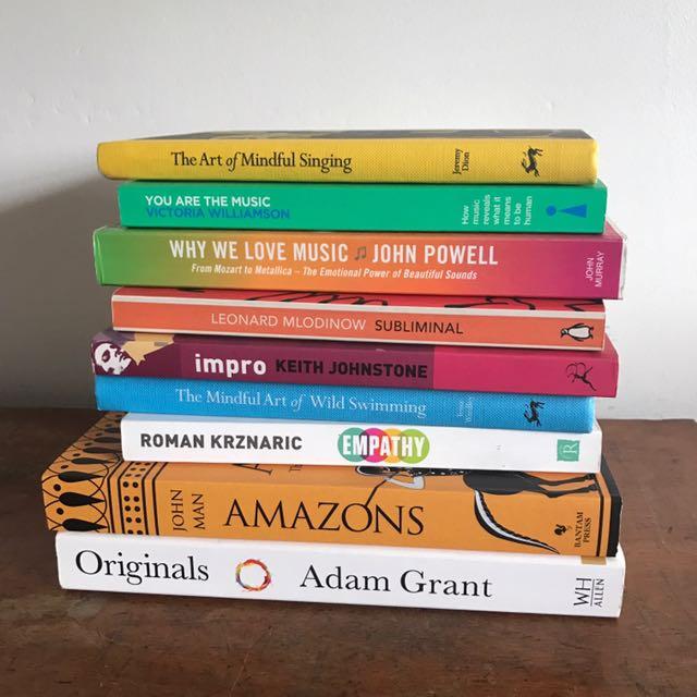Random listing of books