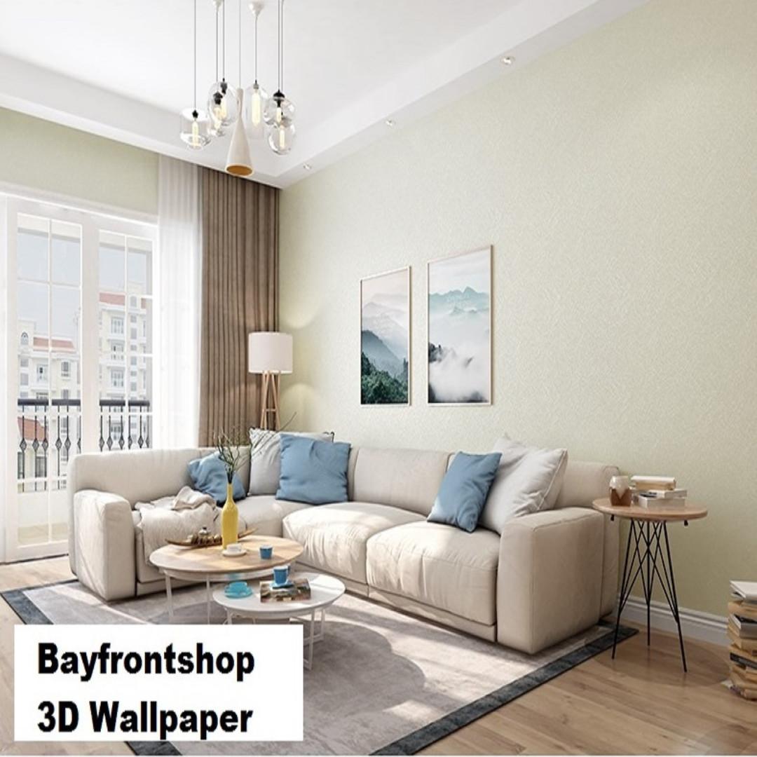 Rice White Color Gold Silk 3D Living Room Bedroom Wallpaper ...