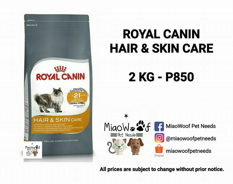 Royal Canin Hair and Skin Care Cat Food (2kg/1kg)