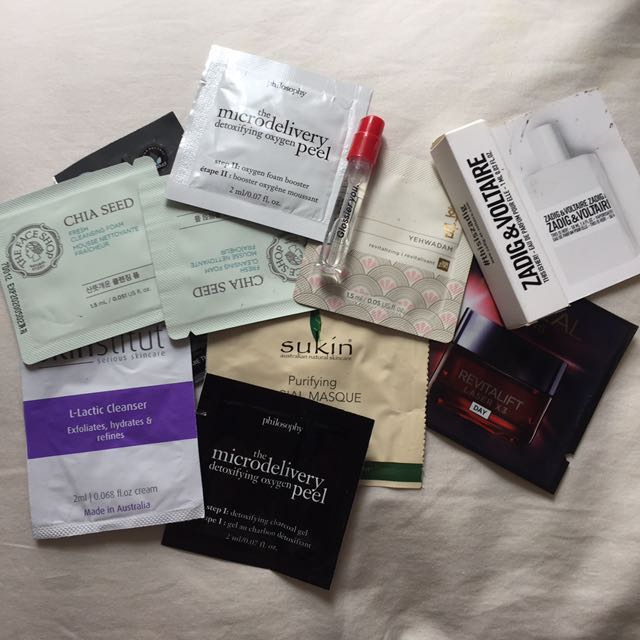 Sample pack: Glossier, Philosophy and more.