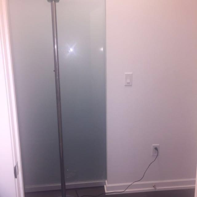 Silver Chrome Floor Lamp