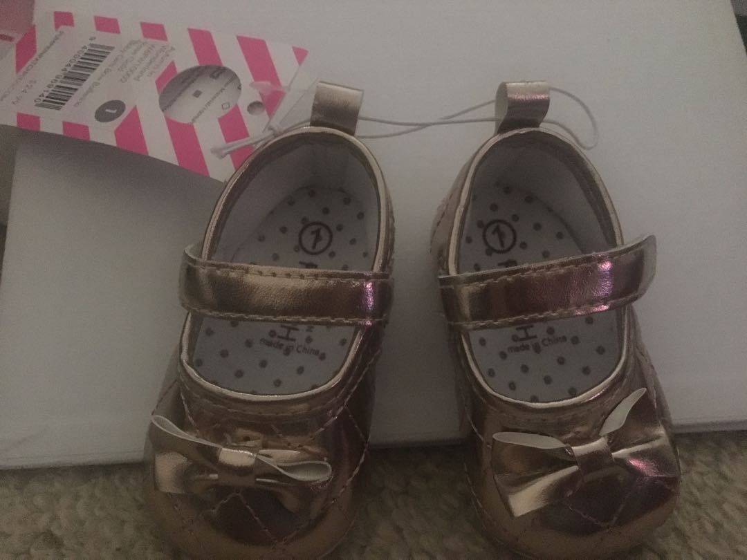 Size 1 baby girl shoes
