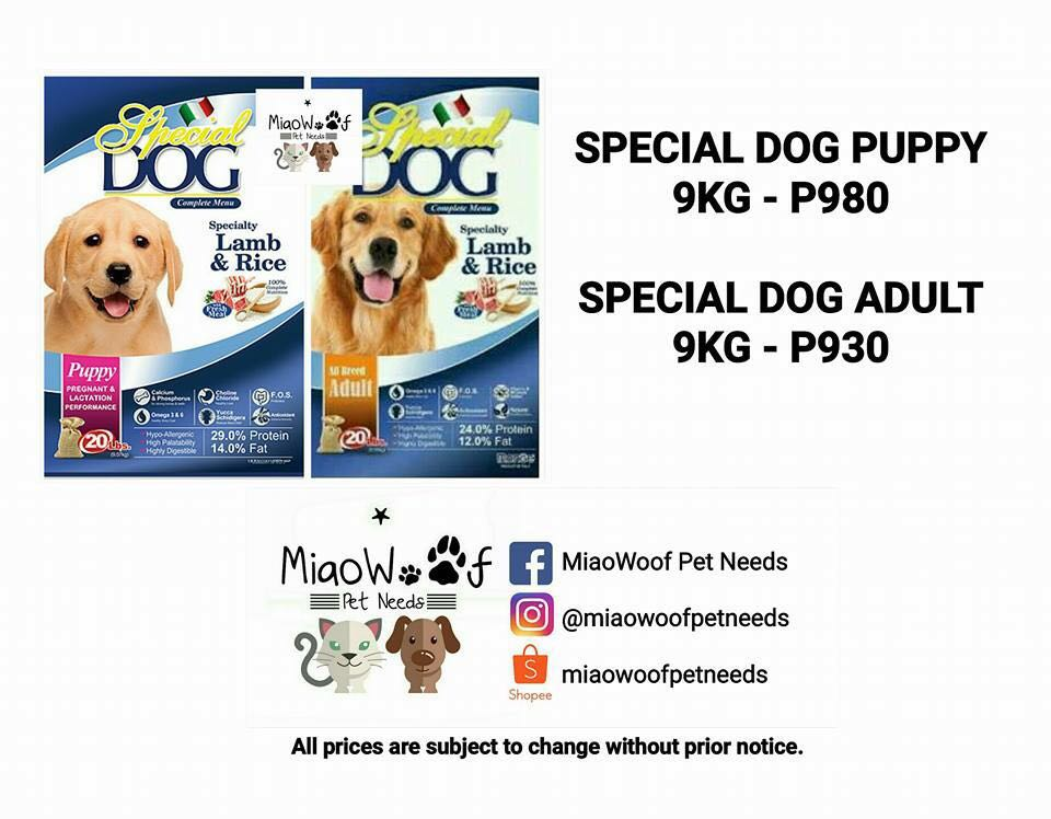 Special Dog Food (Puppy and Adult)