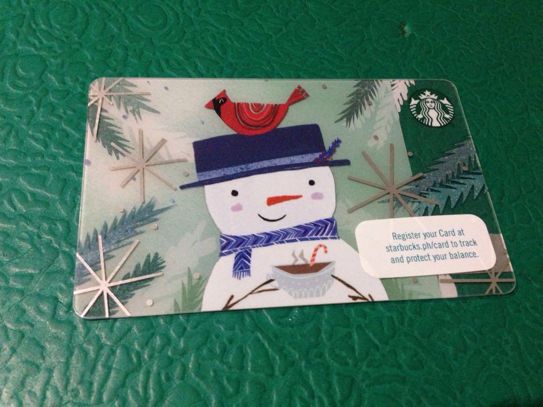 Starbucks card 2018 Snowman edition