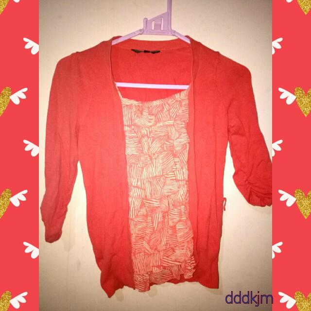 The Executive orange knit blouse 😊
