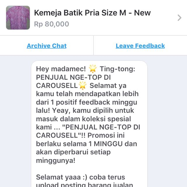 Ting tong another testi from carousell❤️❤️