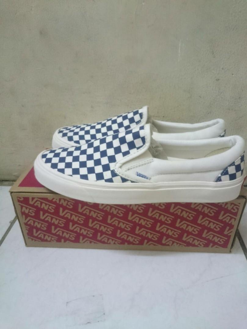 9d90390d78 Vans Vault OG Slip-On Checkerboard Navy white
