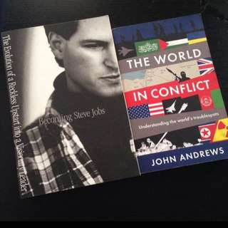 Non fiction book Becoming steve jobs The world in conflict