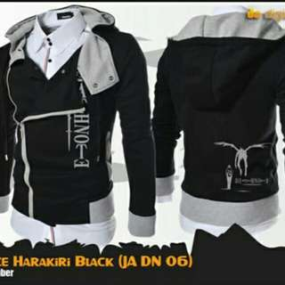 Jaket Anime Death Note Harakiri Style Black Hoodie-Best Seller