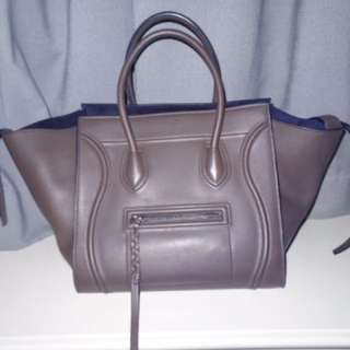 Medium Luggage Phantom bag in supple calfskin   CÉLINE Anthracite