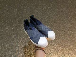Adidas Superstar Slip-On Blue Denim