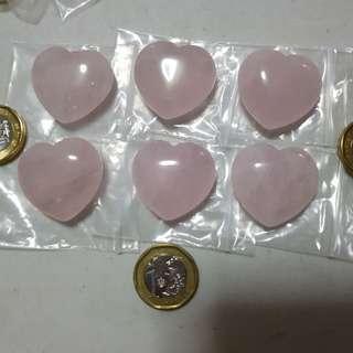 Fengshui rose quartz heart shape
