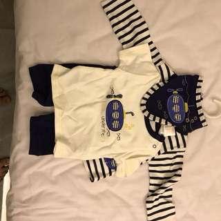 Baju anak cowok sailor 3-6 bulan