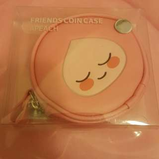 Kakaotalk peach coins bag