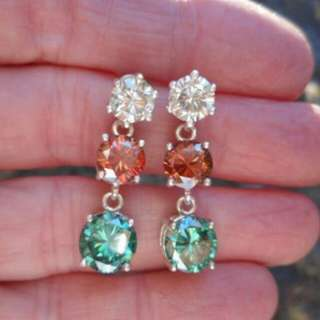 Moissanite earring