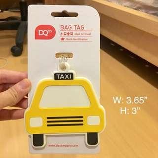 DQ Yellow Taxi Cab PVC bag tag 🚕