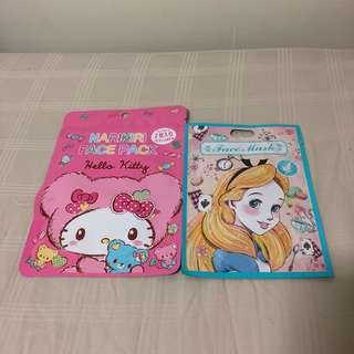 Hello Kitty & Alice in Wonderland face mask